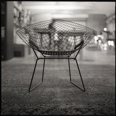 #Bertoia Diamond Chair.