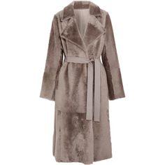 Yves Salomon Reversible belted shearling coat