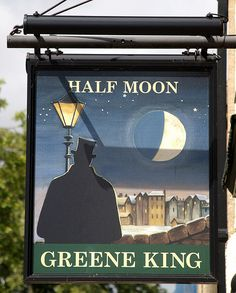 Half Moon Pub sign - Cambridge, England