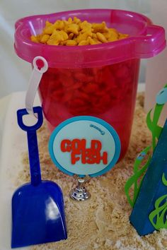 Goldfish at a Bubble Guppies birthday party! See more party planning ideas at CatchMyParty.com!