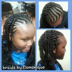 A great protective style for my natural or transitioning girls ;)