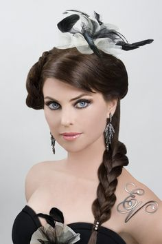 #Model/Actress:  #DonnaMarieRocco Hair Front View #UpDos Dream Catchers Salon LIKE us on www.facebook.com/DreamCatchersSalon and visit us at www.ellahairdesign.com   #HairStyle