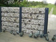 Oyster shell walls are made of abandoned oyster shells collected from oyster farms in Lau Fau Shan.