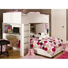 South Shore Logik Twin over Twin L-Shaped Bunk Bed with Desk | Wayfair