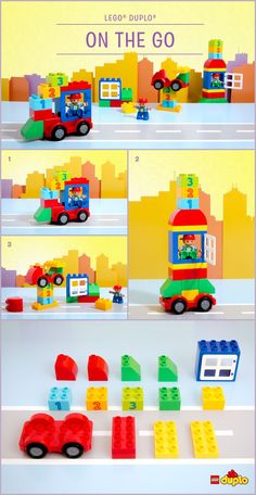 Before we know it, the summer holidays are upon us again! For hours of fun at home or on the move, fill a small box with 15 LEGO DUPLO bricks or less and have fun with your little one, building all these different creations… and more! http://www.lego.com/da-dk/family/articles/planes-rockets-and-automobiles-on-the-go-2d80a355de11456ead0e713f8a97447f