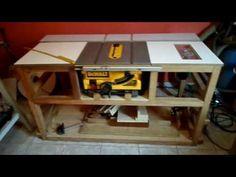 Serra Circular Dewalt, Projects For Kids, Wood Projects, Cierra Circular, Sliding Table Saw, Table Saw Station, Palette Projects, Table Saw Stand, Diy Workbench