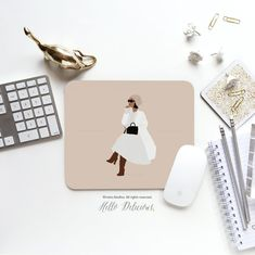 Mouse Pad Minimalist Girl Mouse Pad Line aArt Mouse Pad Office