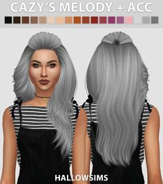 Hair The Sims Criador: Hallowsims – Fashion The Sims 4 Sims 4 Mods, Sims 2, The Sims 4 Pc, Sims 4 Teen, Sims 4 Toddler, Hair The Sims 4, Sims Hair, Hairstyles With Bangs, Afro Hairstyles