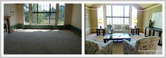 Orinda Home Staging ~ Before & After Living Room