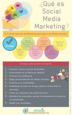 Infografía en español para saber y comprender qué es Social Media Marketing. También ofrece consejos y claves para llevarlo a la práctica.