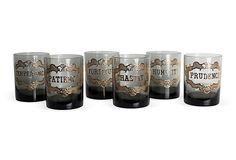 Virtues Glasses, Set of 6 on OneKingsLane.com