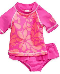 Carters Baby Swimwear, Baby Girls Two-Piece Rash Guard Swimsuit - Kids Swimwear - Macys