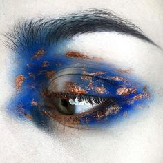Sorry for such a long waiting! Here comes my personal version of Ravenclaw house makeup. This one was super easy to do, but I think there… Eye Makeup Tips, Makeup Goals, Makeup Inspo, Makeup Inspiration, Makeup Ideas, Makeup Tutorials, Creative Makeup, Simple Makeup, Unique Makeup