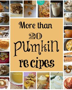 Pumpkin recipes... yum!