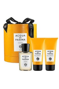 13 Man-Tastic Grooming Gifts For The Dudes In Your Life #refinery29  http://www.refinery29.com/mens-grooming#slide-1  Acqua Di Parma Colonia Gift Set, $135, available at Sephora....