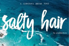 New! Salty Hair Font DUO 25% off  by MilkLetters on @creativemarket