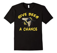 Men's Give Bees a Chance Tshirt Large Black – Friendly Faces