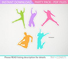 jump party pack trampoline party package jump by TinyConfetti