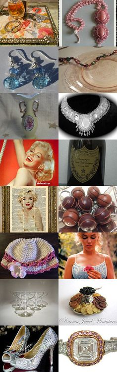 Diamonds are a Girls Best Friend by MADI on Etsy--Pinned with TreasuryPin.com #jewelry #painting