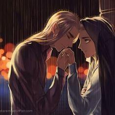 Rain over Thranduil and Legolas