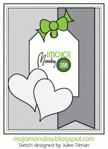 MOJO Monday Sketch 318 using Hearts Framlits Collection with Deb Valder