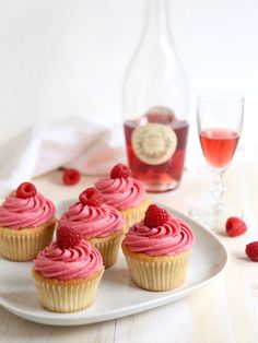 These pretty in pink raspberry rosé cupcakes are the whole package— they've got the looks, and the flavor to back it up. Plus, wine in my dessert? Yes, please! If you have not had the pleasure of enjoying rosé wine and raspberries together, then you are missing out. And you need to fix that immediately. …
