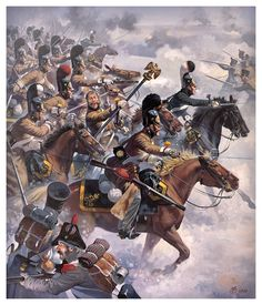 The Russian Dragons of St. Petersburg (Russian) took the eagle from the French Line Infantry at the Battle of Eylau, Military Art, Military History, Historical Art, Napoleonic Wars, Kaiser, Warfare, Art History, Samurai, Dragons