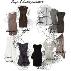 Deep Winter palette 2, created by carolgrant on Polyvore