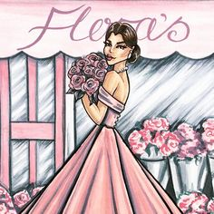 Welcome to Flora's. Full of perfectly pastel vintage charm and just in time for Spring. Prints will be coming to my Etsy store soon. #fashion #fashionillustration #fashionillustrator #fashionart #fashionsketch #illustration #illustrator #draw #drawing #sketch #sketching #flora #floral #flowers #florist #vintage #vintagestyle #etsy #etsyshop #etsyseller