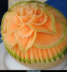 wish I could be so creative - Food Carving Ideas - - Veggie Art, Fruit And Vegetable Carving, Veggie Food, Vegetable Trays, Watermelon Art, Watermelon Carving, Food Design, Fresh Fruit, Antipasto