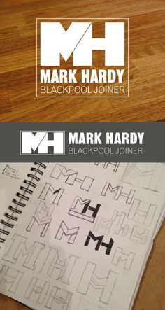More logo design and development. This time within the building trade. Mark Hardy Blackpool Joiner.