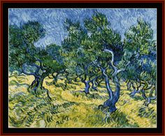 Olive Grove - Cross Stitch Collectibles fine art counted cross stitch pattern