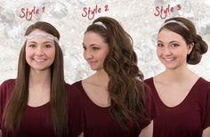 """Ways to wear the """"gatsby"""" headwrap!"""