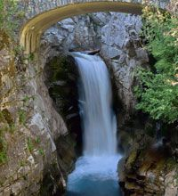 Some of the prettiest and most accessible falls in Mt. Rainier National Park, Christine Falls offers a charming setting for viewing the powerful falls. Grand Portage State Park, Mt Rainier National Park, Rainbow Falls, Mammoth Lakes, Yosemite Falls, Autumn Photography, Top Photo, Mount Rainier, National Parks