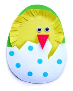 A cute Easter / Spring Chick in an egg - can be used as an Easter Card too.