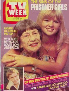 Lizzie and Susie Driscoll on the cover of TV Week Tony Barber, Burt Reynolds, Broken Marriage, Old Shows, Tv Times, Tv Guide, Back In The Day, Childhood Memories, Prisoner