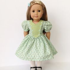 Vintage 40's Era Dress for the American Girl by LilyKayDollClothes
