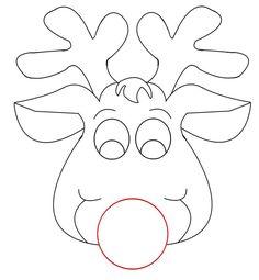Boże Narodzenie: Maski do kolorowania do druku 6