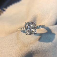 Louilyjewelry Sterling Silver Cushion Cut Engagement Ring Best Picture For beautiful wedding rings c Cushion Cut Engagement Ring, Perfect Engagement Ring, Beautiful Engagement Rings, Engagement Ideas, Beautiful Wedding Rings, Wedding Rings Rose Gold, Dream Wedding, 925 Silver, Shoes