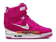 Nike Air Revolution Sky Hi GS Chaussure Montante Nike Pas Cher Pour Femme Rose/Blanc 599410-901