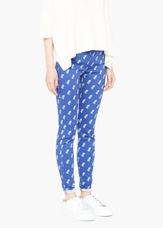 Slim-fit printed jeans gipsi - Jeans for Women | MANGO