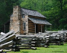 This is the John Oliver Cabin. It can be reached through the scenic loop road at Cades Cove, near Gatlinburg, TN