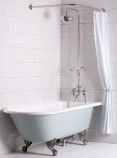 Shower Over Bath Nz Free Standing Tub Combo Freestanding Bathtub - Baignoire Shower Over Bath, Master Bathroom Shower, Tub Shower Combo, Upstairs Bathrooms, Bathtub Shower, Bathroom Renos, Bathroom Interior, Modern Bathroom, Small Bathrooms