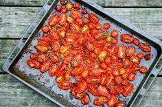 Langtidsbagte tomater, Rigtig gode til salat og f.eks i en squashtærte
