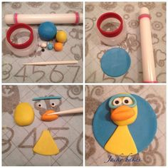 Jule from Timmy time Cupcake topper Tutorial