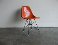 Herman Miller Eames chair. Original fibreglass on new base. From Etsy seller CoMod