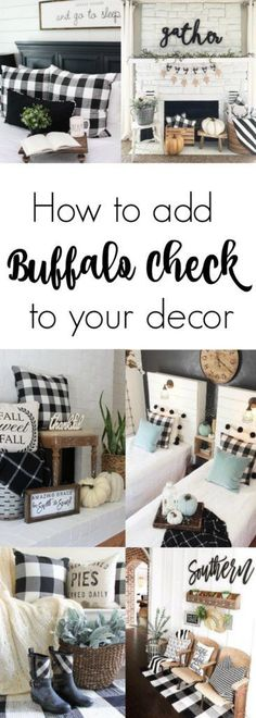 97 Best Buffalo Check Fabric Black And White Images On Pinterest