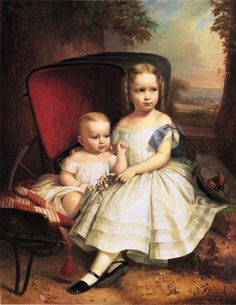 """""""Portrait of Two Children, Helen and Alice Capron"""" by William Ruthven Wheeler (1863)"""