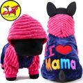 2017 petcircle Мода I Love Papa and Mama зима собака одежда Костюмы для домашних животных маленький большой собаки Пальто и пуховики Куртки для чихуахуа