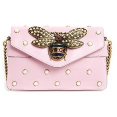 GUCCI  Broadway  Leather Clutch found on Polyvore featuring bags, handbags,  clutches, 76e4084387